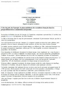 Crise du prix de l'énergie: le plan ambitieux des socialistes français dans les propositions de la Commission européenne
